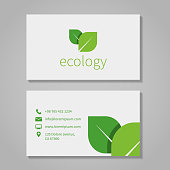 Business card template for an ecological company