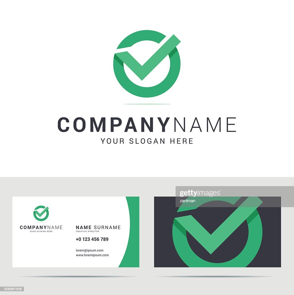 Business card template in flat style.