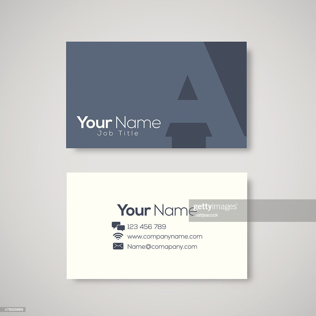 Business Card Template Letter A Vector Art | Getty Images