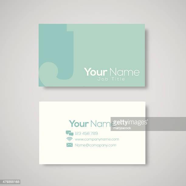 ilustrações de stock, clip art, desenhos animados e ícones de modelo de cartão de visita letra j - letraj