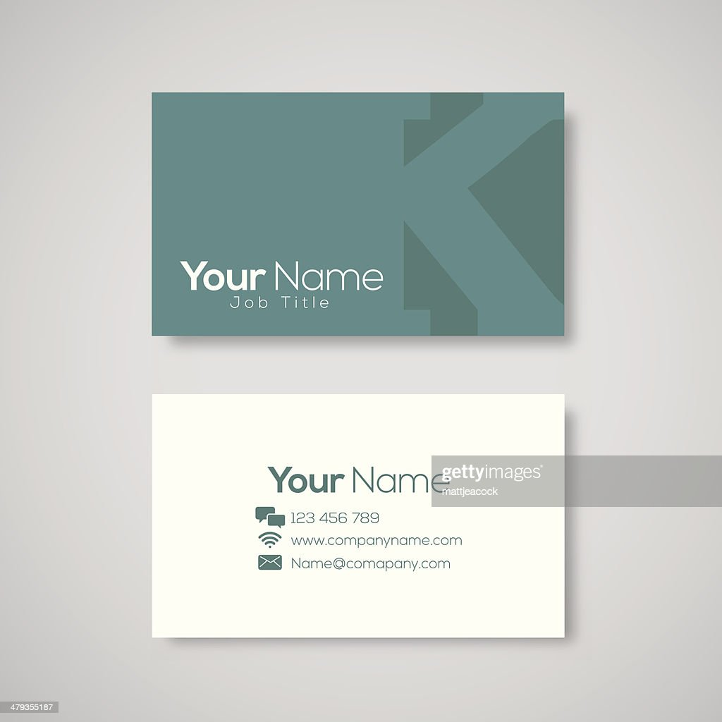Business card template letter k vector art getty images business card template letter k vector art spiritdancerdesigns Choice Image
