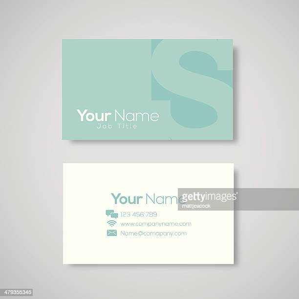 business card template letter s - letter s stock illustrations, clip art, cartoons, & icons