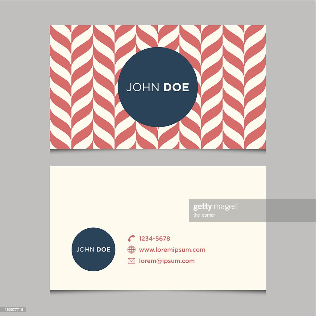 Business card template, pattern background