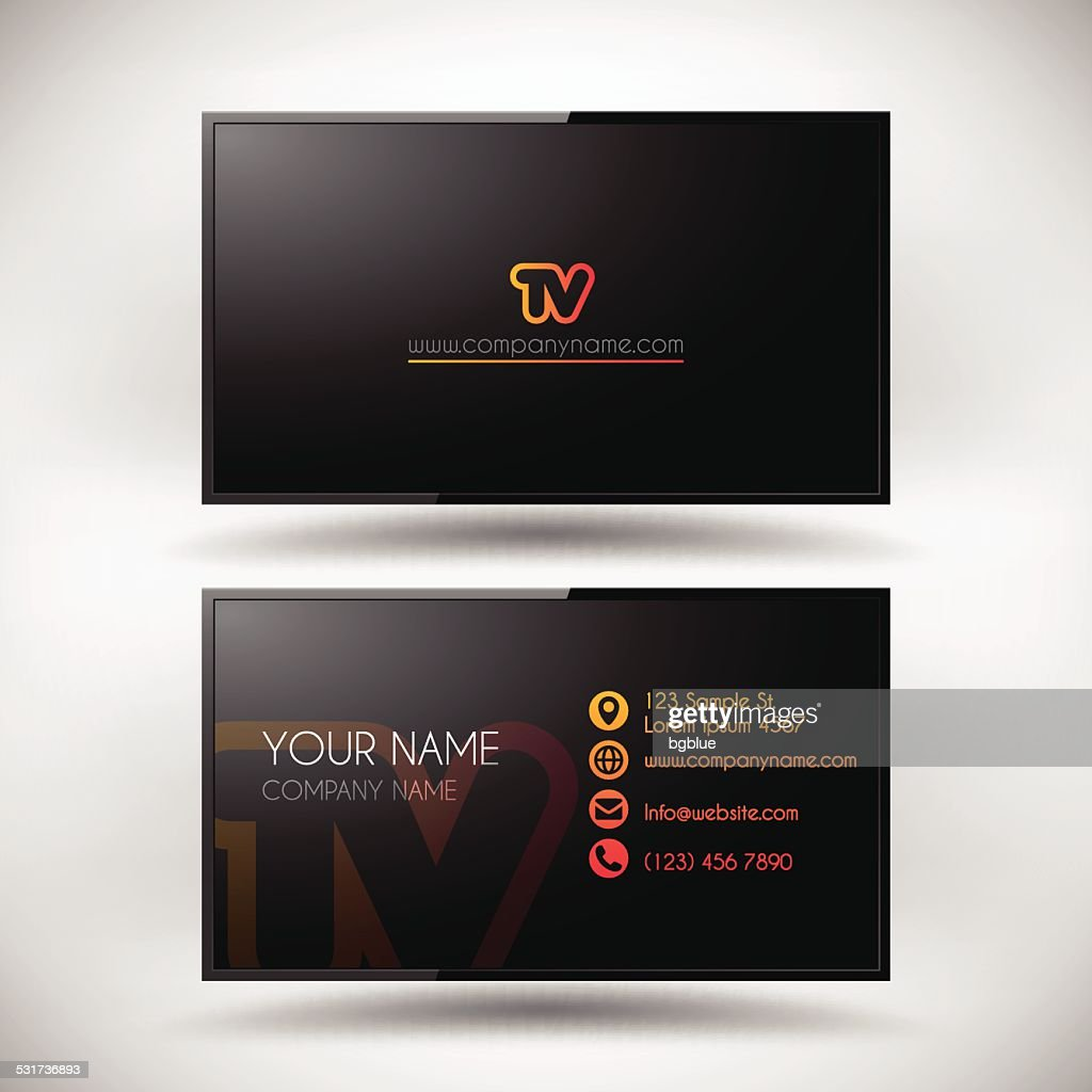 Business card template shaped lcd tv screen vector art getty images business card template shaped lcd tv screen vector art colourmoves