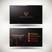Business Card Template shaped LCD TV Screen