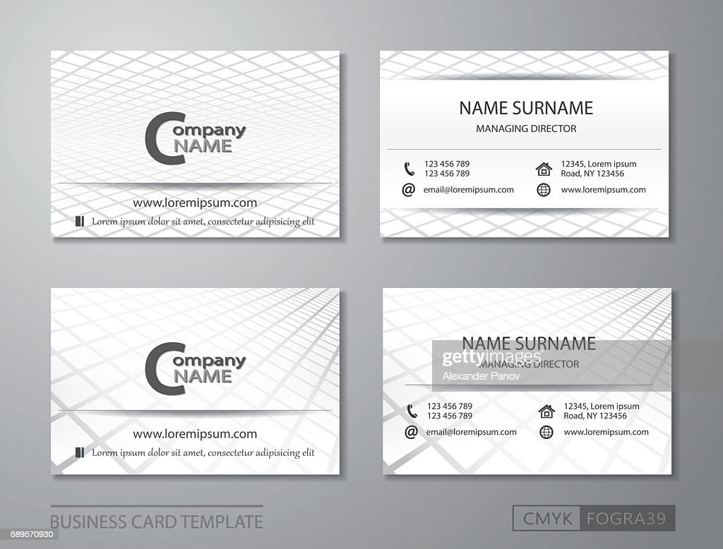 Business card template Vcard set performance in the box
