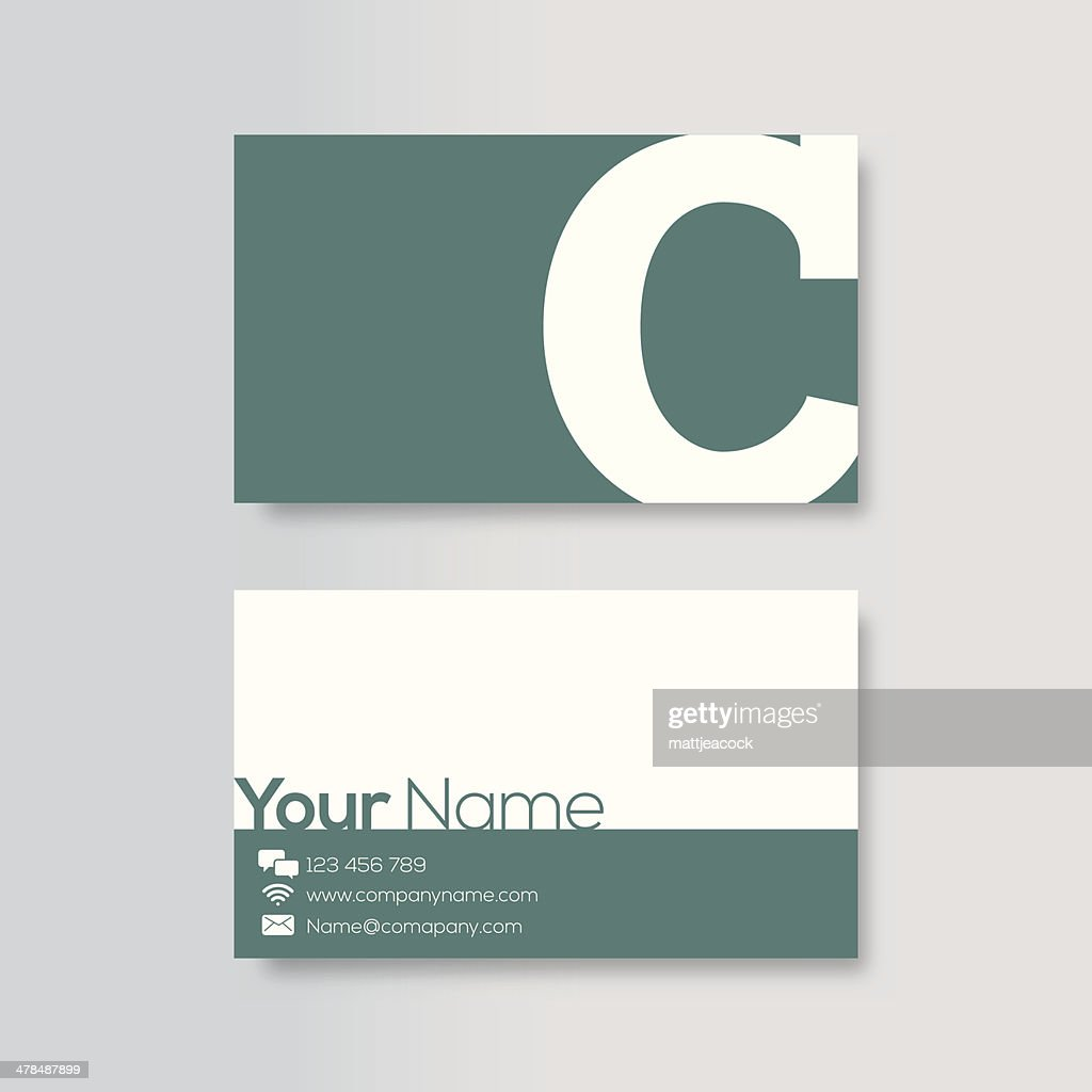 Business card template : stock illustration