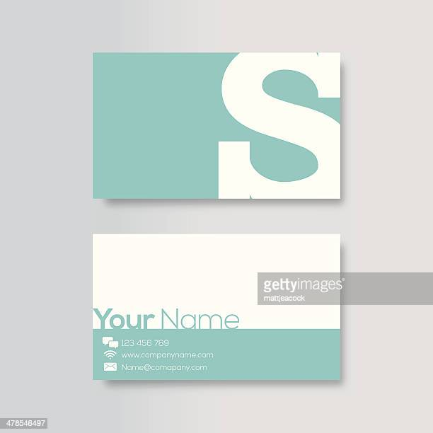 business card template - letter s stock illustrations, clip art, cartoons, & icons