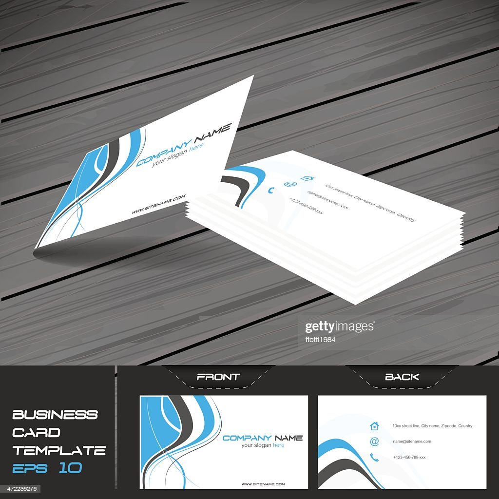 Business card template, vector illustration