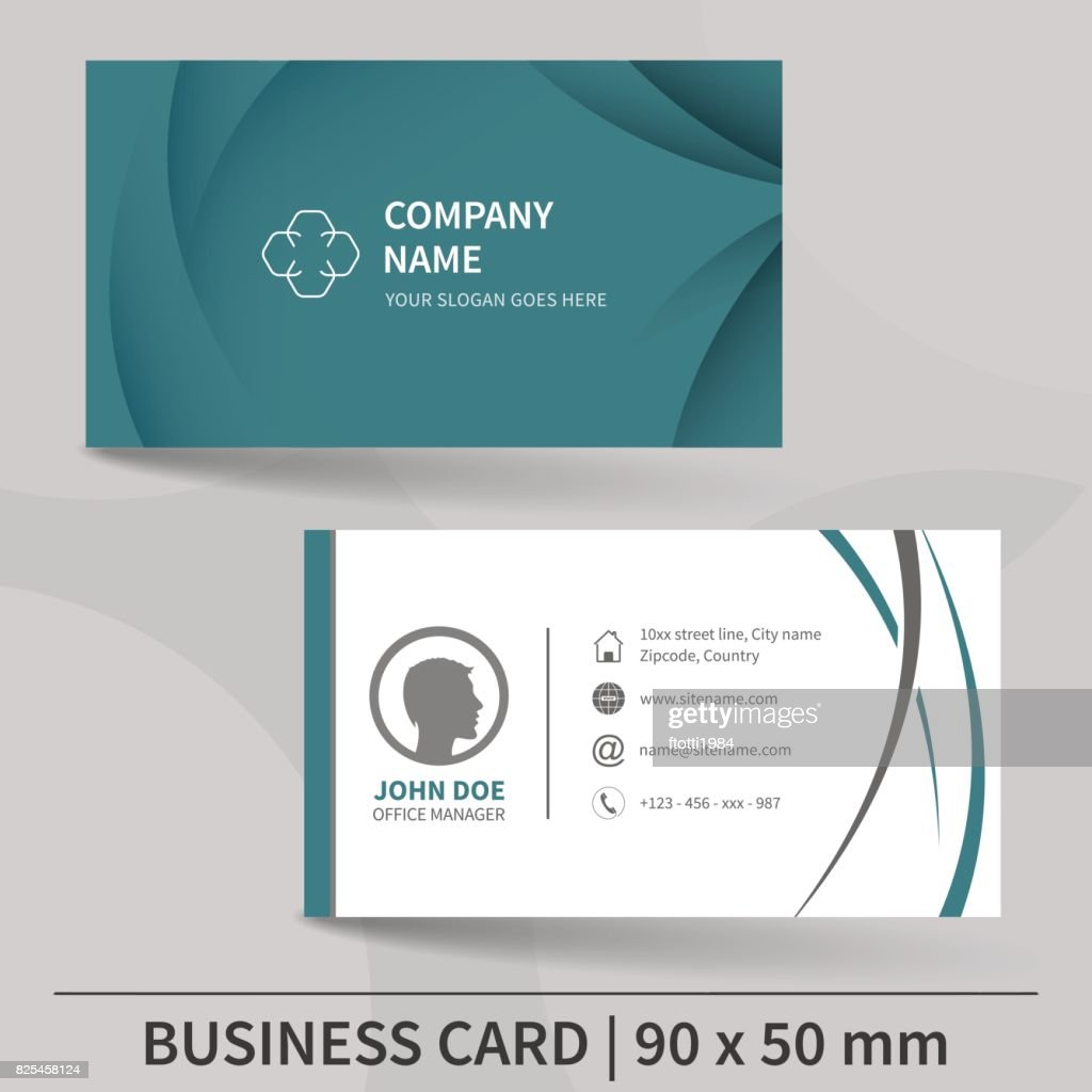 Business card template. Vector illustration.