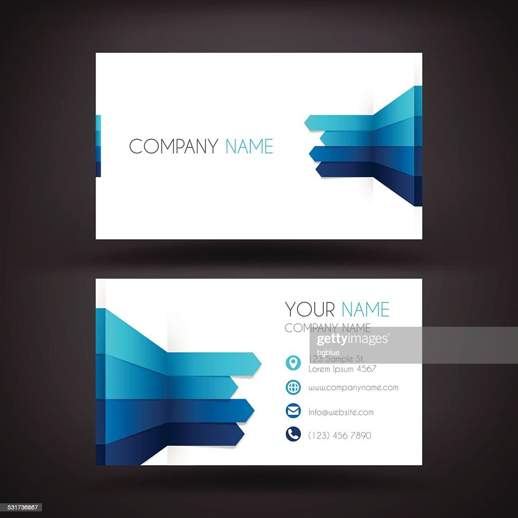 Business Card Template With A Infographic Design Vector Art | Getty ...