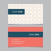 Business card template with background pattern 05