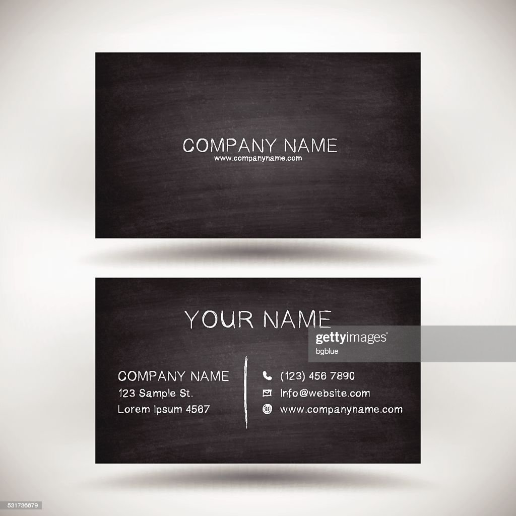 chalkboard business card template chalkboard business card