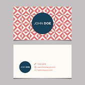 Business card template with crosses background