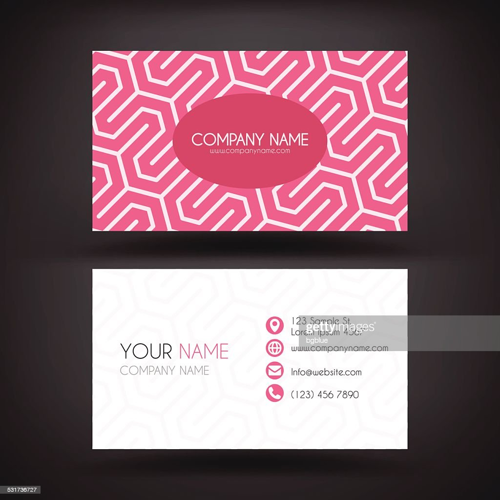 business card template with geometric abstract background
