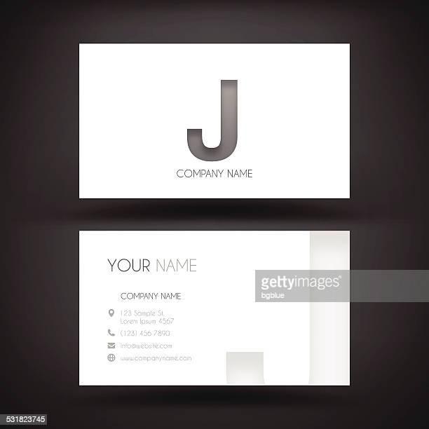 """ilustrações de stock, clip art, desenhos animados e ícones de modelo de cartão de visita-com letra """"j"""" - letraj"""