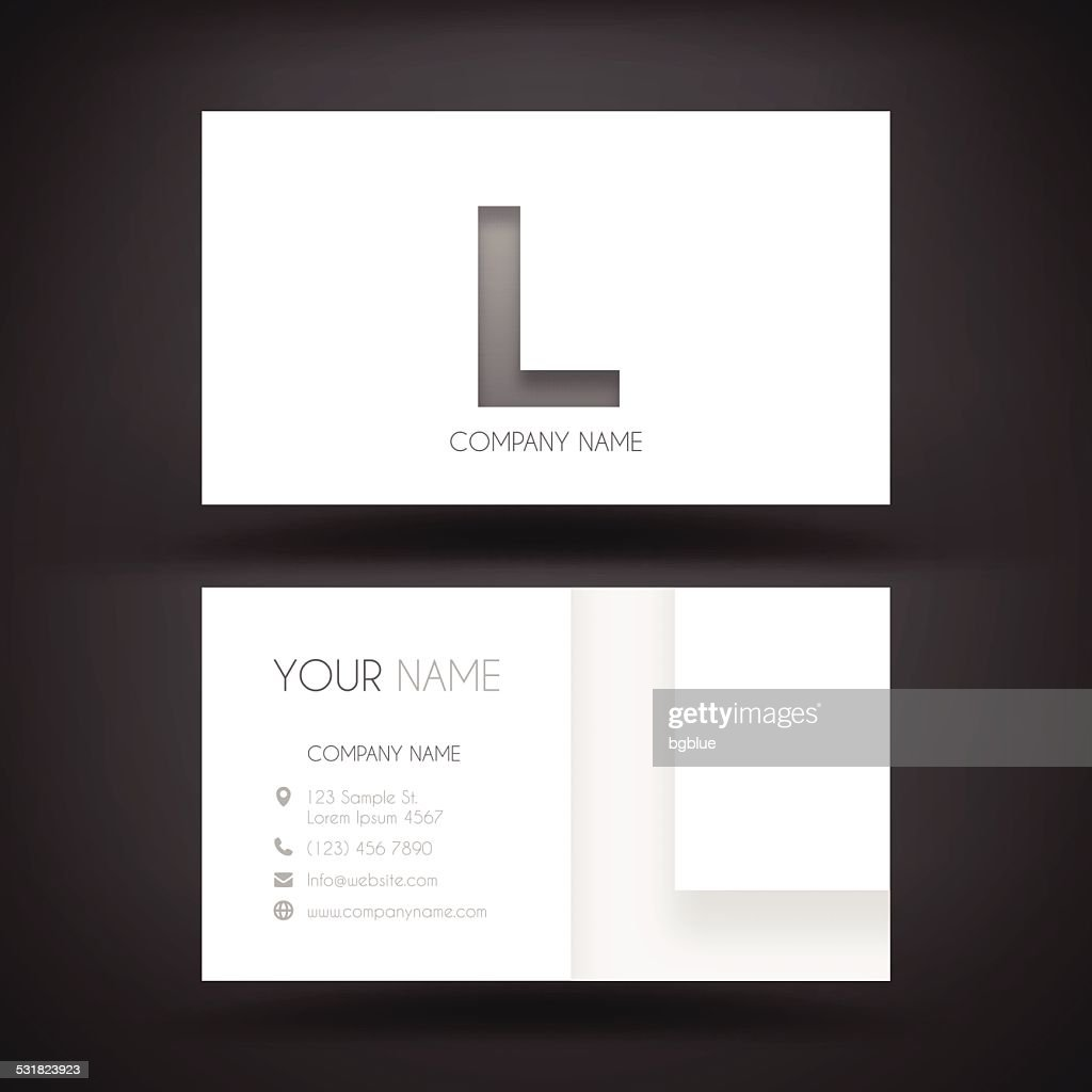 Business card website gallery free business cards business card template with letter l vector art getty images business card template with letter l magicingreecefo Gallery