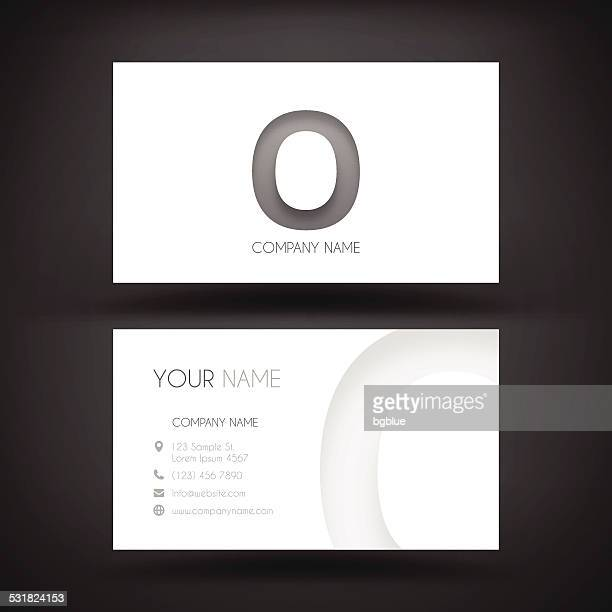 """Business Card Template - with letter """"O"""""""