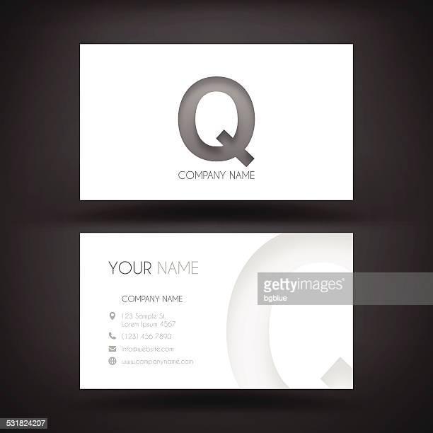 ビジネスカードテンプレート-文字「q レストラン」 - q and a点のイラスト素材/クリップアート素材/マンガ素材/アイコン素材