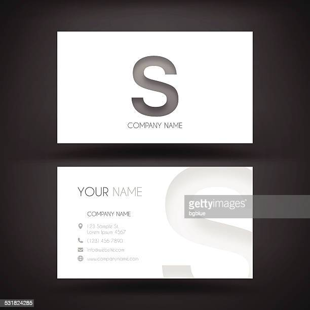 """business card template - with letter """"s"""" - letter s stock illustrations, clip art, cartoons, & icons"""