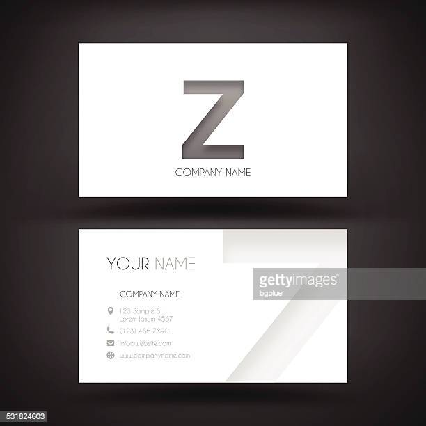 """Business Card Template - with letter """"Z"""""""