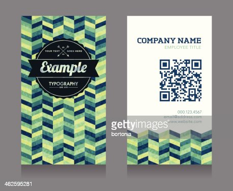 Business Card Template With Qr Code Vector Art Getty Images - Business card with qr code template