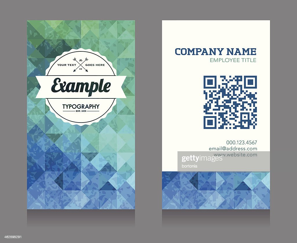 Business card template with qr code vector art getty images business card template with qr code vector art wajeb Image collections