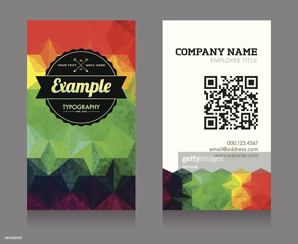 Business Card Template With Qr Code Vector Art | Getty Images