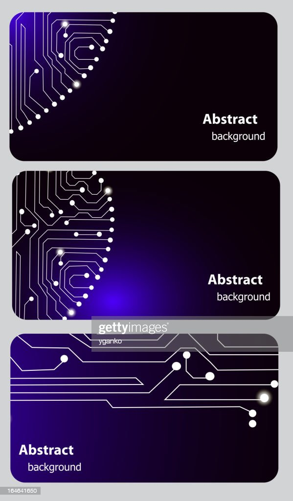 Business card templates with Circuit board