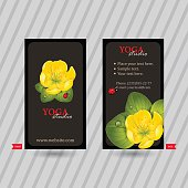 Business card with naturalistic floral composition