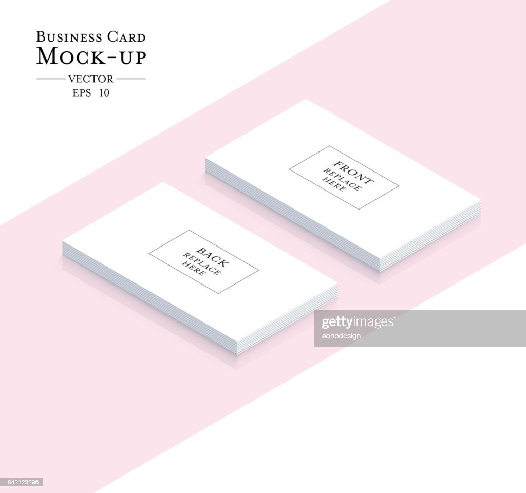 Business cards blank mockup - template vector design.