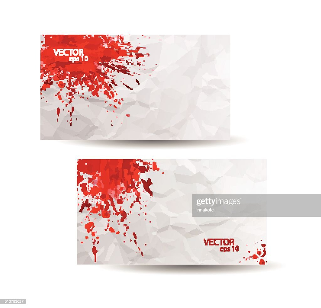 Business cards template with red abstract spray paint vector art business cards template with red abstract spray paint vector art colourmoves