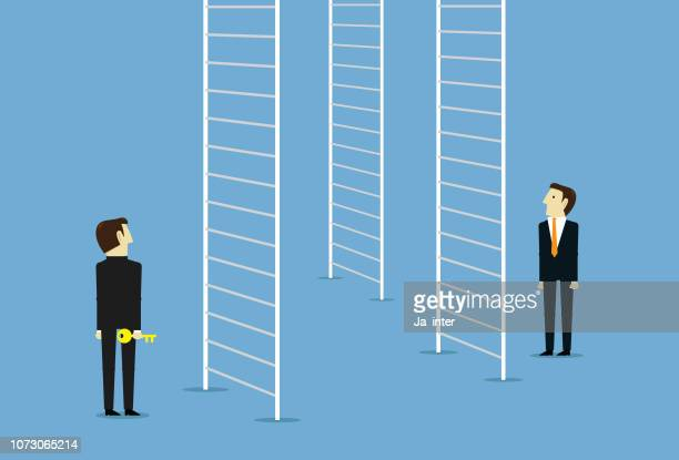 business career ladder - finance and economy stock illustrations, clip art, cartoons, & icons