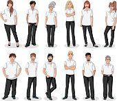 Business cartoon young people