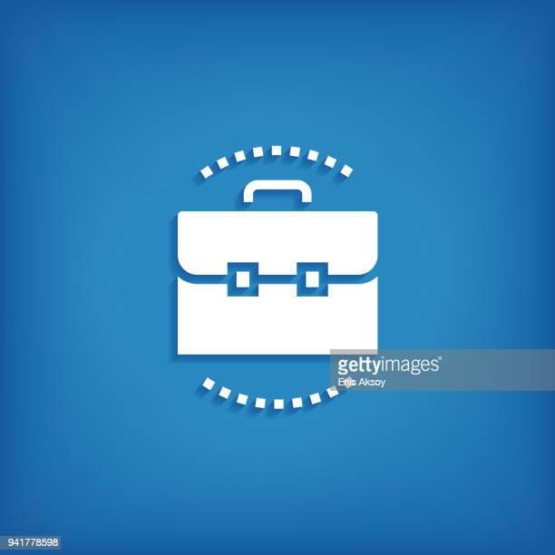 ilustrações, clipart, desenhos animados e ícones de ícone de processo de negócios - portfolio