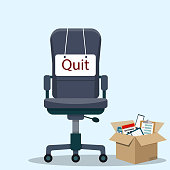 Business chair with quit message