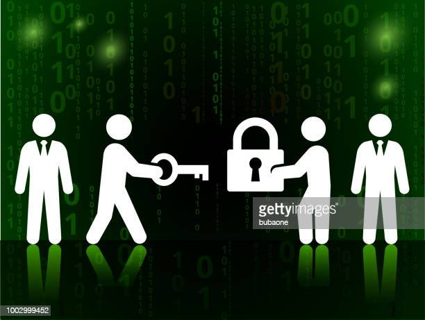 Business Challanges and Solutions on Binary Code Black Background