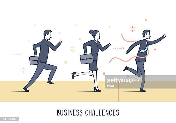 business challenges - glühend stock illustrations