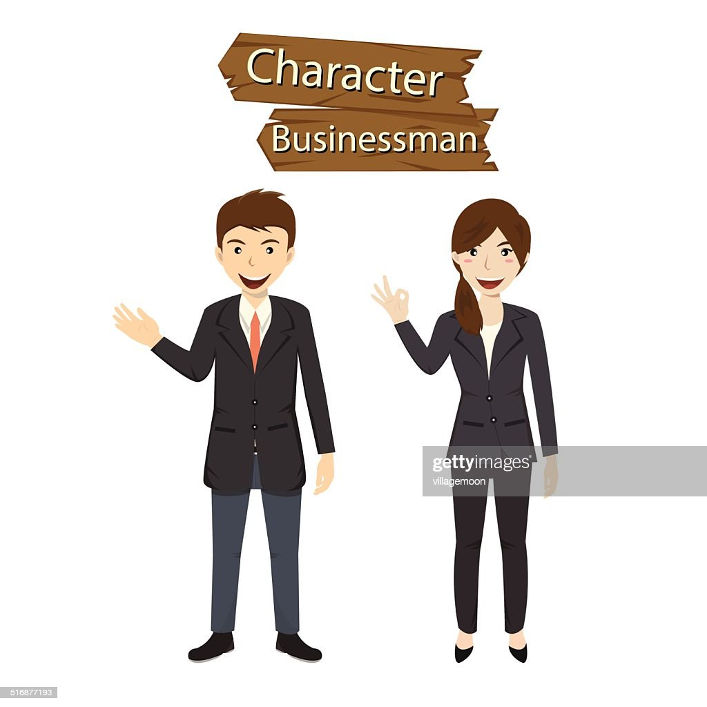 Business character vector illustration