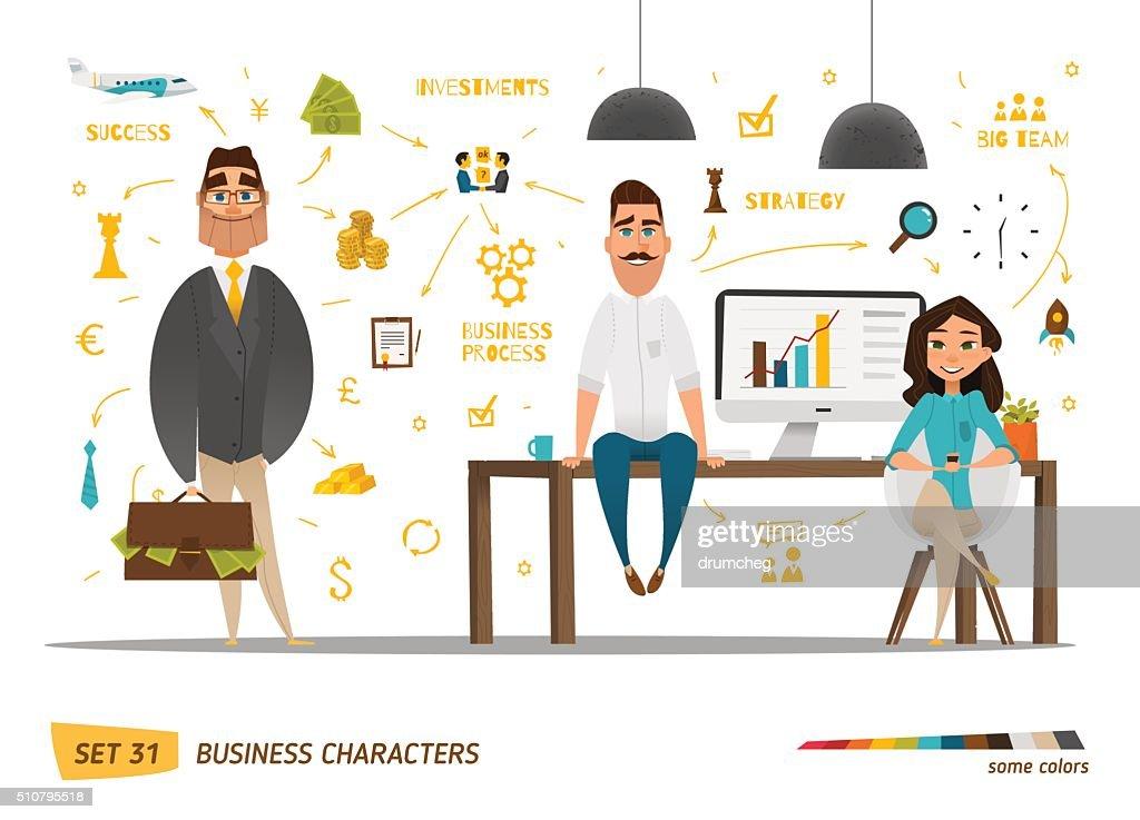 Business characters scene
