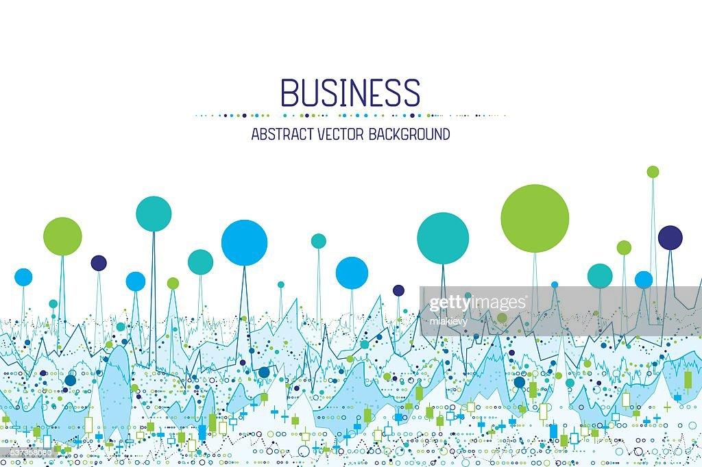 Business chart banner