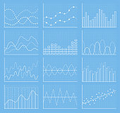 Business chart collection. Set of graphs. Data visualization.