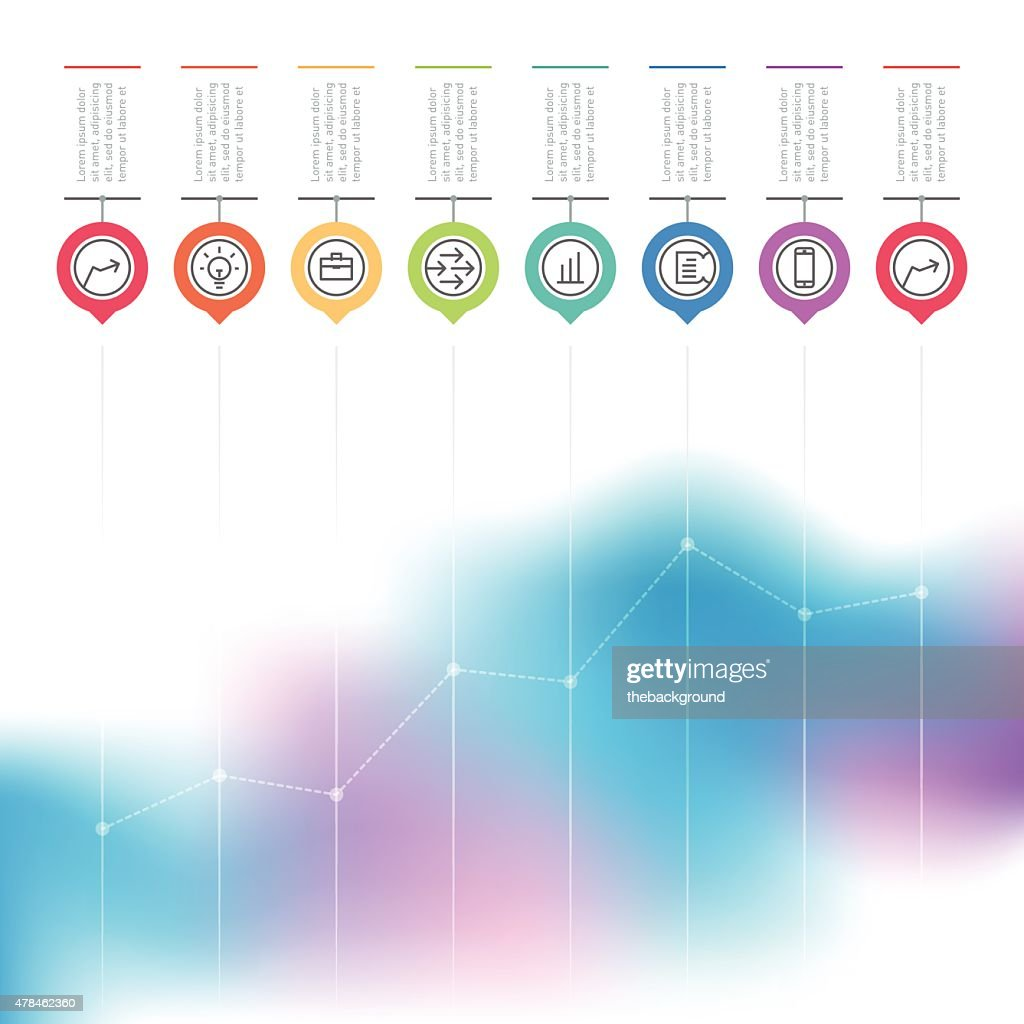 Business chart graph of increase. Vector infographics with icons
