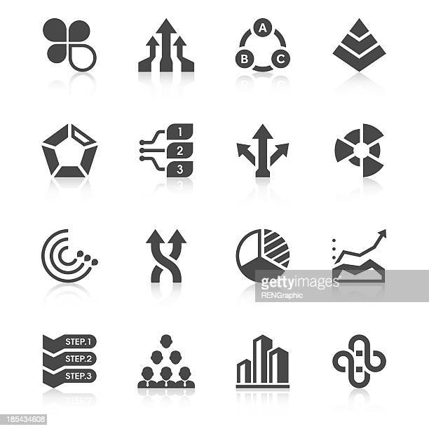 Business Chart Icon Set | Unique Series