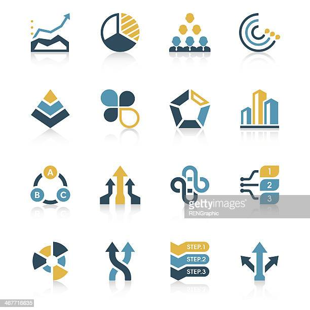 Business Chart Icon Set | Vivid Series