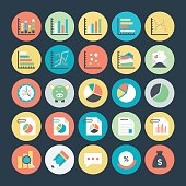 Business Charts, Analytics and Investment Vector Icons 1