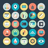 Business Charts, Analytics and Investment Vector Icons 2