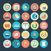 Business Charts, Analytics and Investment Vector Icons 3