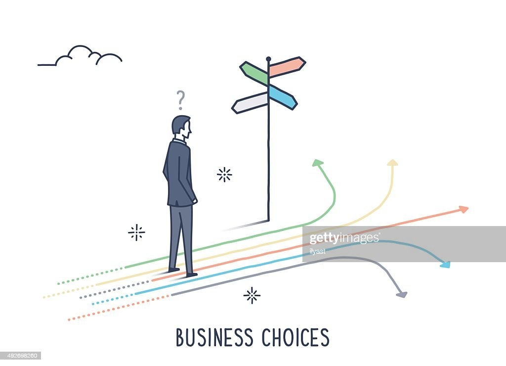 Business Choices : Stock Illustration