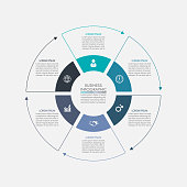 Business circle. timeline infographic icons designed for abstract background template